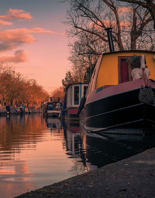 Canal and narrow boat